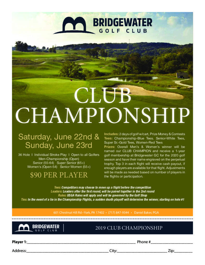 2019 Club Championship Flyer