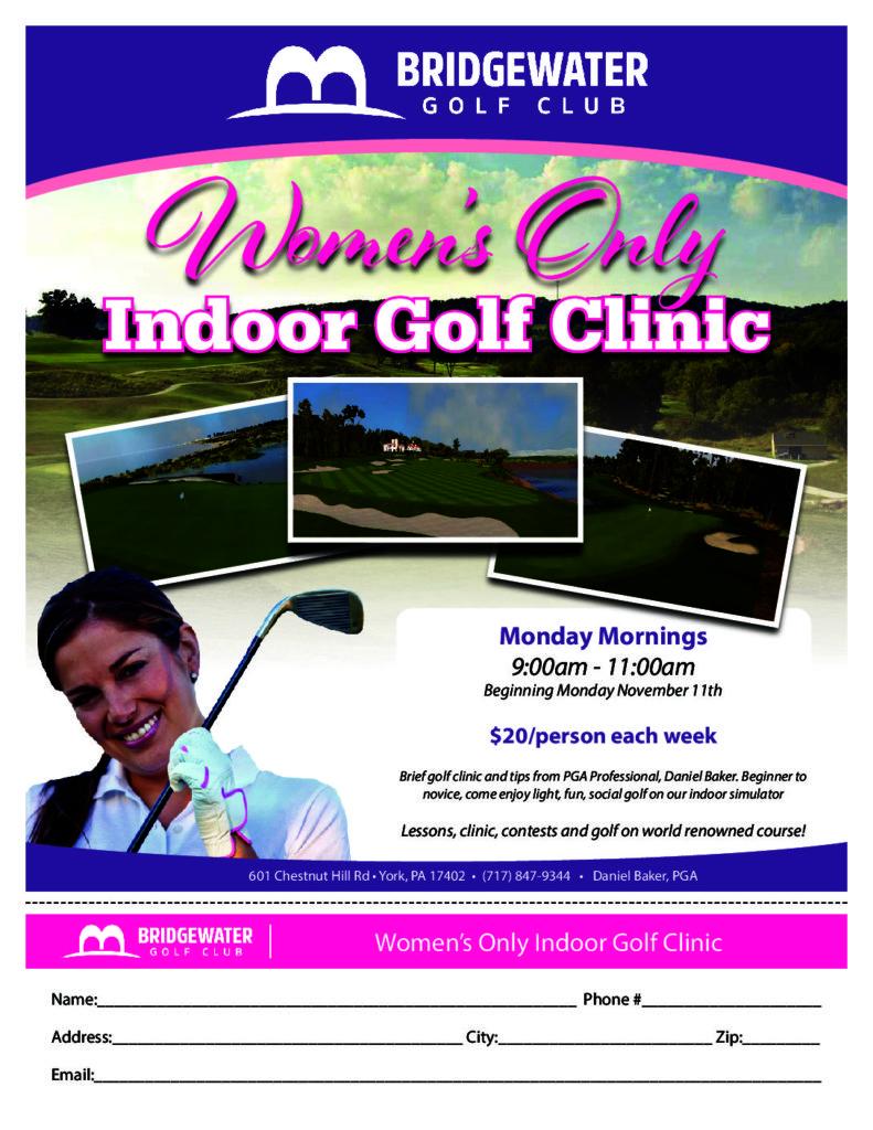 Women's Only Indoor Golf Clinic