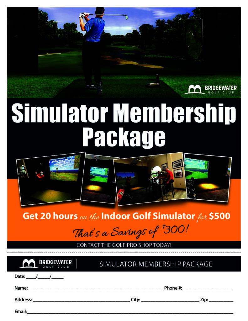Simulator Membership Package